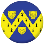 Shropshire County Flag 58mm Button Badge